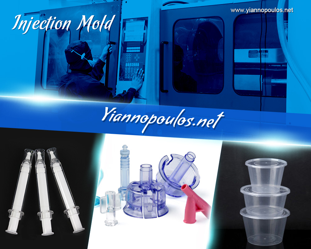 How are plastic injection molds designed for plastic parts manufacturing?