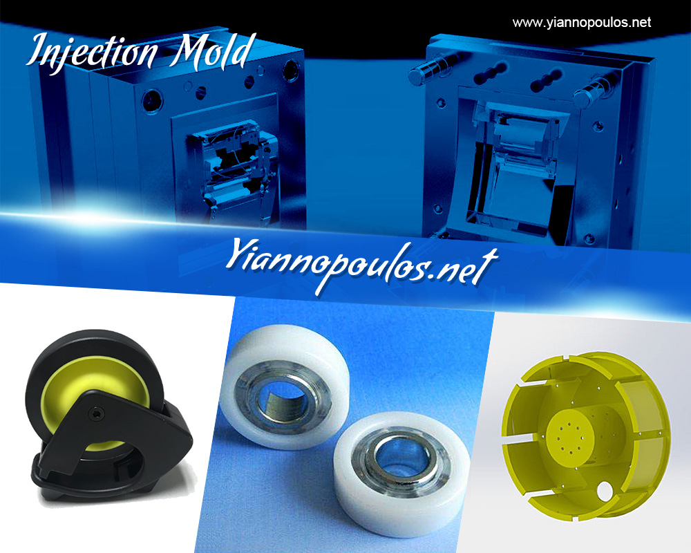 Injected plastic molds making process